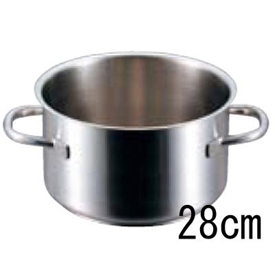 パデルノ 半寸胴鍋 1007 (蓋無) 28cm 【業務用】【送料無料】【プロ用】