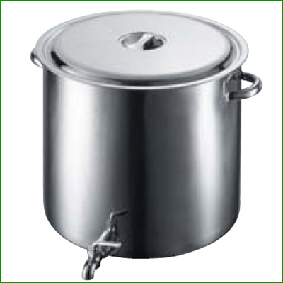 EBM 18-8 蛇口付 スープ寸胴鍋 55cm 【業務用】【送料無料】【プロ用】