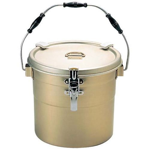 食缶 丸型二重 アルマイト (クリップ付) 238-A 【業務用】【送料無料】