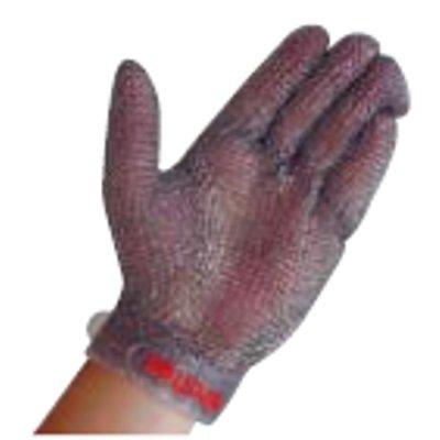 ニロフレックス メッシュ手袋 プラスチックベルト付(1枚) 左手用 L 【業務用】【送料無料】【プロ用】