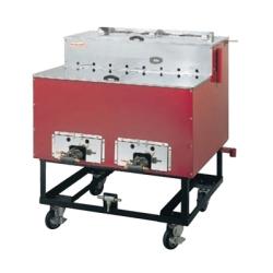 焼きいも機 AY-1500型 保温室付 いもランド ガス式 13A 【業務用】【送料無料】【プロ用】 /テンポス