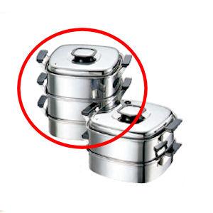 角蒸器 プレス 18-0 モモ 22cm 3段/業務用/新品/テンポス