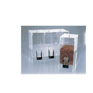 コーヒービーンズディスペランサー アクリル NO.282 トリプルタイプ 【業務用】【送料無料】【プロ用】 /テンポス