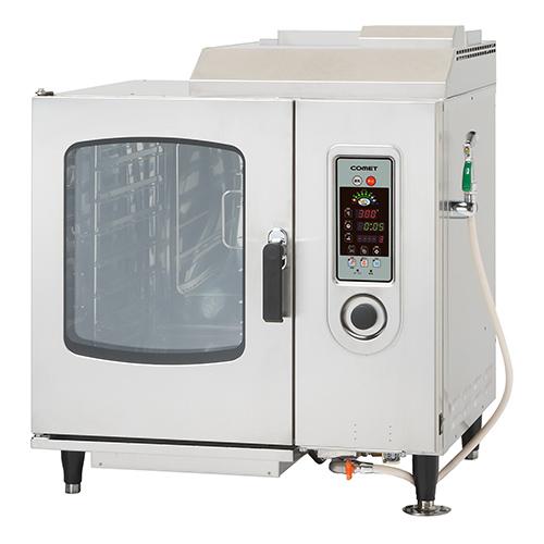 ガススチームコンベクションオーブン 1/1ホテルパン6段【CSW-IGW61】【コメットカトウ】【送料無料】【プロ用】【厨房機器】