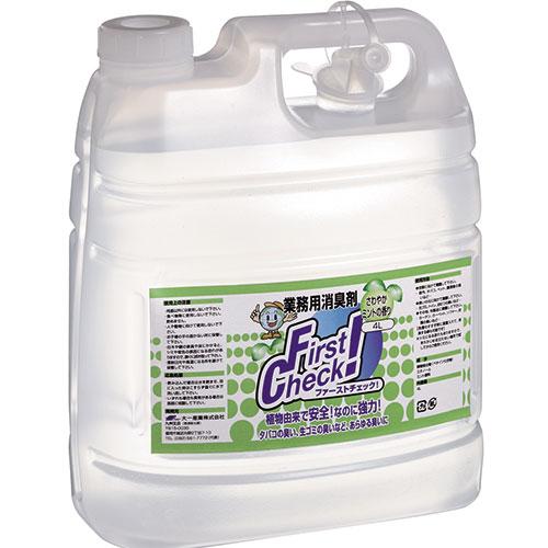 ファーストチェック! サワヤカミントノ香リ 4L 4本入(プロ用万能消臭剤)/プロ用/新品