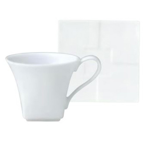 ミヤマ デミタスカップ&ソーサーセット(10入)カップ径75×幅93×高さ63(mm)/ソーサー径110×高さ15(mm)/プロ用/新品