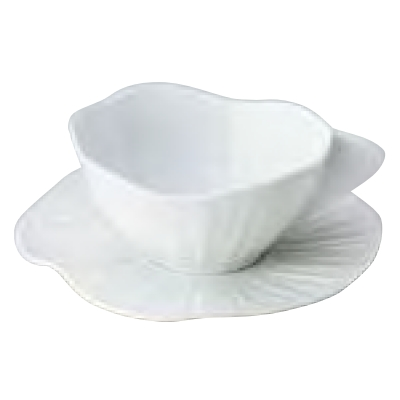 カップ&ソーサーL_ロータスホワイト JacquesPergay/Cup:W167 φ137×H68mm,Saucer:φ195×H22mm/業務用/新品 /テンポス