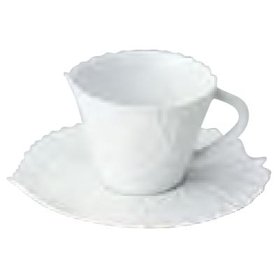 カップ&ソーサーM_ポケットツリーホワイト JacquesPergay/Cup:W125 φ97×H77mm,Saucer:W182×D170×H17mm/業務用/新品 /テンポス