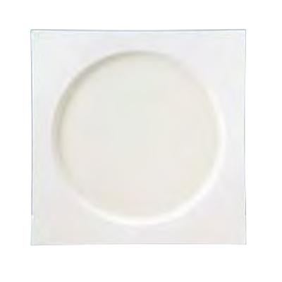 スクエアプレート スクエアプレート 27.5cm_ホワイト SweetsPalette/W275×D275×H28mm/4入/業務用/新品 /テンポス