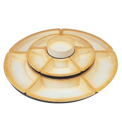 ビュッフェプレート ニュー2尺2寸回転オードブル 仕切オレンジ吹付 高さ210 直径:660/業務用/新品 /テンポス