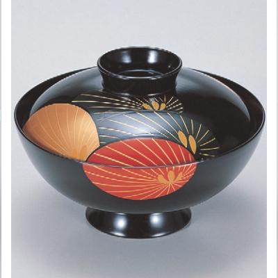 小吸椀 4.5寸吸物椀黒に変り松 漆器 高さ93 直径:134/業務用/新品/小物送料対象商品