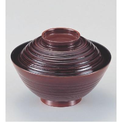 小吸椀 4寸蛤椀栃 漆器 高さ57 直径:122/業務用/新品/小物送料対象商品