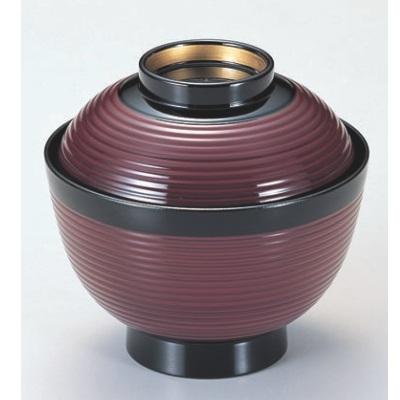 小吸椀 3.6寸高千筋吸椀小豆つば金 漆器 高さ72 直径:107/業務用/新品/小物送料対象商品
