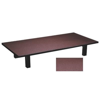 座卓 メラミン 茶乾漆(折足) 幅1200 奥行600 高さ325/業務用/新品
