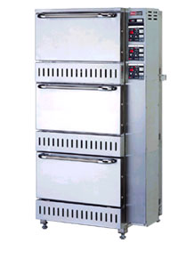 【業務用】ガス立体型炊飯器立体型・自動消火式(予約タイマー付) 5升(9.0L)×3 【RAS-155-T】【リンナイ】幅700×奥行688×高さ1,348【送料無料】 /テンポス