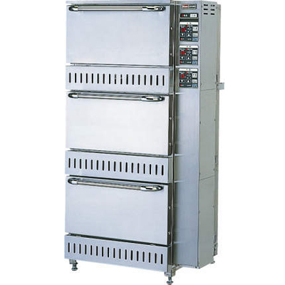【業務用】ガス立体型炊飯器立体型・タイマー消火式 5升(9.0L)×3 【RTS-155】【リンナイ】幅700×奥行688×高さ1,348【送料無料】【プロ用】