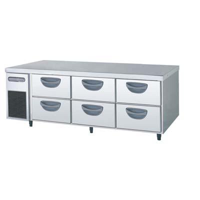 【冷蔵庫】【フクシマガリレイ】冷蔵コールドテーブル 2段ドロワータイプ 厚型【TBW-550RM3】幅1630×奥行750×高さ550【送料無料】【業務用】【新品】【プロ用】 /テンポス