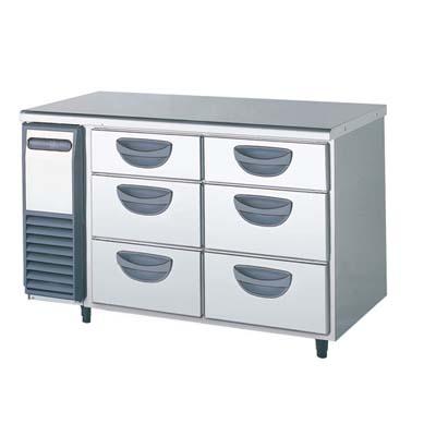 【冷蔵庫】【フクシマガリレイ】冷蔵コールドテーブル 3段ドロワータイプ 薄型【TDC-40RM】幅1200×奥行600×高さ800【送料無料】【業務用】【新品】 /テンポス