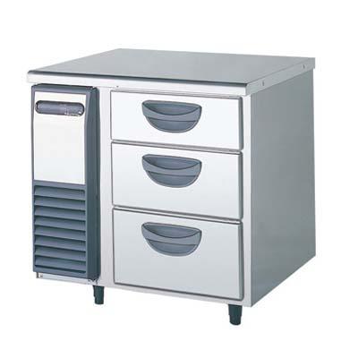 【冷蔵庫】【福島工業】冷蔵コールドテーブル 3段ドロワータイプ 厚型【TDW-250RM1】幅770×奥行750×高さ800【送料無料】【業務用】【新品】