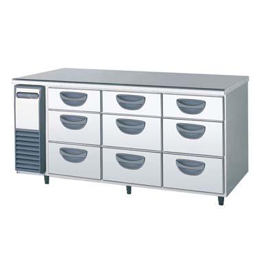 【冷蔵庫】【福島工業】冷蔵コールドテーブル 3段ドロワータイプ 厚型【TDW-550RM】W1650×D750×H800【送料無料】【業務用】【新品】