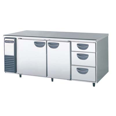 【冷蔵庫】【福島工業】冷蔵コールドテーブル 【YRW-180RM1-D】幅1800×奥行750×高さ800【送料無料】【業務用】【新品】【プロ用】