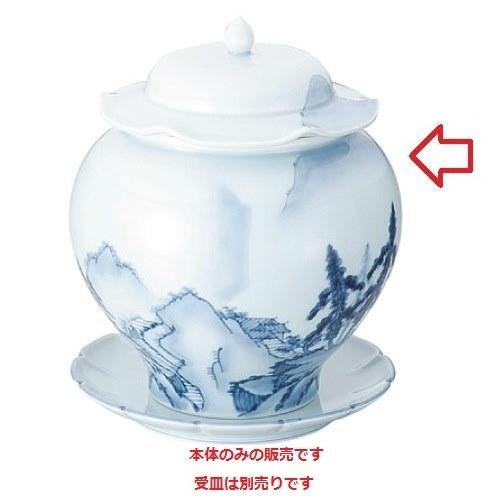 青磁山水仏跳壇 大 カンダ 高さ262(mm)/業務用/新品/小物送料対象商品