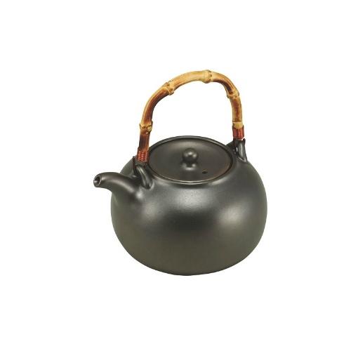 黒釉鉄ビン(陶器製) カンダ 急須 高さ113(mm)/プロ用/新品