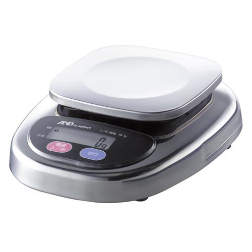 A&D 防塵・防水デジタルはかり A&D HL-300WP コンパクトスケール 幅170mm×奥行220mm×高さ63mm ひょう量:300g/業務用/新品/小物送料対象商品