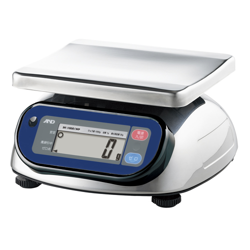 A&D 取引証明用 防塵・防水デジタルはかり A&D SK1000iWP-A1 (検定付) スケール 幅266mm×奥行280mm×高さ146mm ひょう量:1000g/業務用/新品