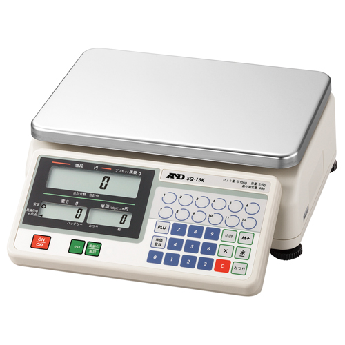 A&D 取引証明用 店舗用料金はかり A&D SQ-6K (検定付) 幅483mm×奥行333mm×高さ126mm ひょう量:6000g/業務用/新品 /テンポス