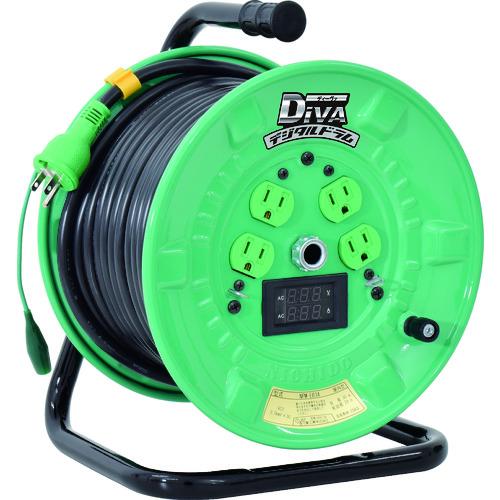 日動 電工ドラム デジタルドラム 標準型 電圧電流メーター付 漏電保護専用 30m/NPDMEB34 /プロ用/新品/送料無料