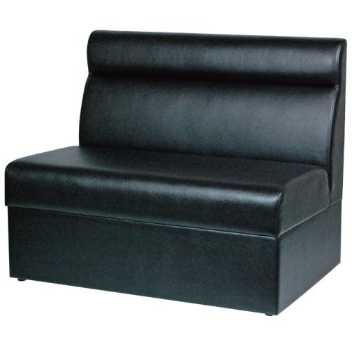 【即納可】ボックスソファ W900 ブラックレザー 幅900×奥行600×高さ750(mm) 座面高さ:380(mm)【業務用】【送料無料】【プロ用】