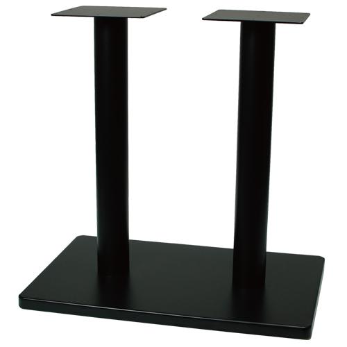 【即納可】テーブルレッグ 角ベース 4人用/2ポール 適合天板サイズ:1200×750(mm) 業務用 送料無料 プロ用 /テンポス