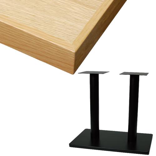 【組立式】TB オーク突板(節有り)テーブル 幅1200×奥行750×高さ720(mm) 天板色:ナチュラル/プロ用/新品/送料別途見積【テンポスオリジナル】 /テンポス