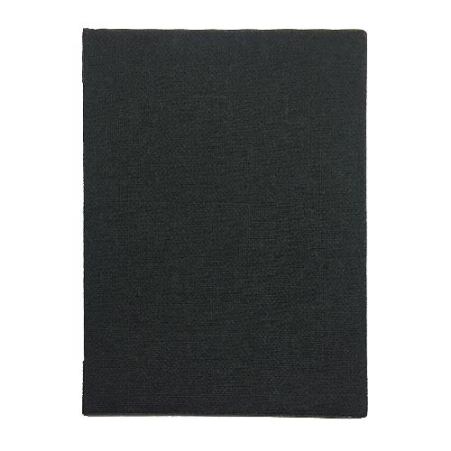 メニューブック 麻タイプ (A4 6ページ仕様) TOM-001 ブラック (15冊入)【業務用/送料無料】