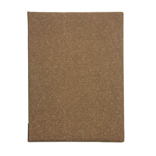 メニューブック 麻タイプ (A4 6ページ仕様) TOM-002 ブラウン (15冊入)【業務用/小物送料対象商品】 /テンポス