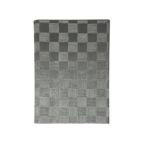 メニューブック 市松柄 (B5 4ページ仕様) TOM-006 グレイブラック (15冊入)【業務用/小物送料対象商品】 /テンポス