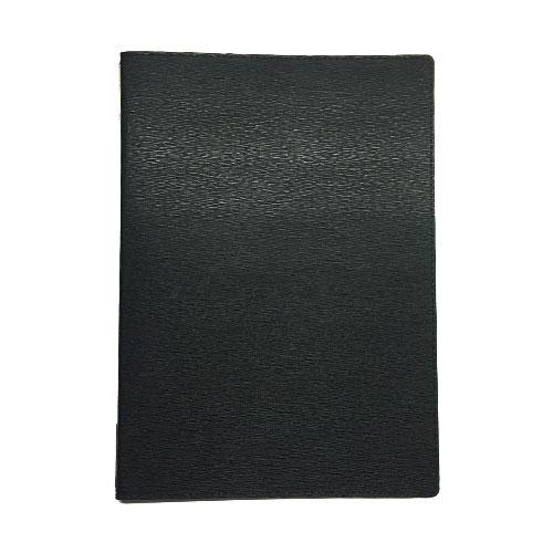 メニューブック 高級合皮 (A4 4ページ仕様) TOM-008 ブラック (15冊入)【業務用/送料無料】