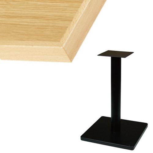 【組立式】 TB オーク突板(木ブチ)テーブル 幅600×奥行750×高さ710(mm) ナチュラル色/プロ用/新品/送料別途見積【テンポスオリジナル】