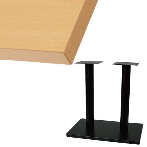 【組立式】 TB メラミン化粧板(共貼り)テーブル 幅1200×奥行750×高さ710(mm) ナチュラル色/プロ用/新品/送料別途見積【テンポスオリジナル】