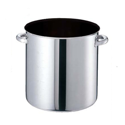 寸銅鍋 モリブデンジII プラス 蓋無 (目盛付) 21cm 【業務用】【送料無料】【プロ用】 /テンポス