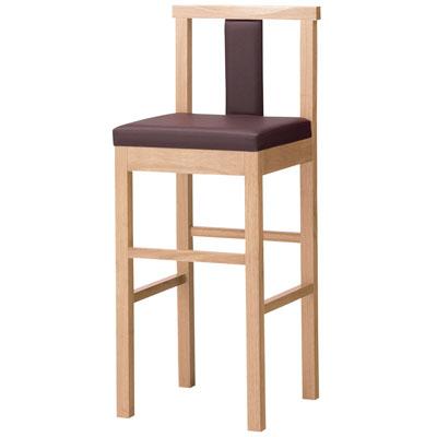 プロシード(丸二金属) 和風ハイカウンター椅子 [陣ハイスタンド] 張地ランクA /(業務用ハイカウンターチェア/新品)(送料無料)
