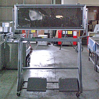 【送料無料】【中古】【業務用】 電光看板 専用架台付き TOWA US-YFP04S 幅1342×奥行560×高さ1740
