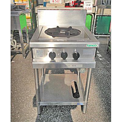 【中古】ガステーブル タニコー TAP-500-100 幅500×奥行600×高さ800 都市ガス 【送料無料】【中古】【業務用】