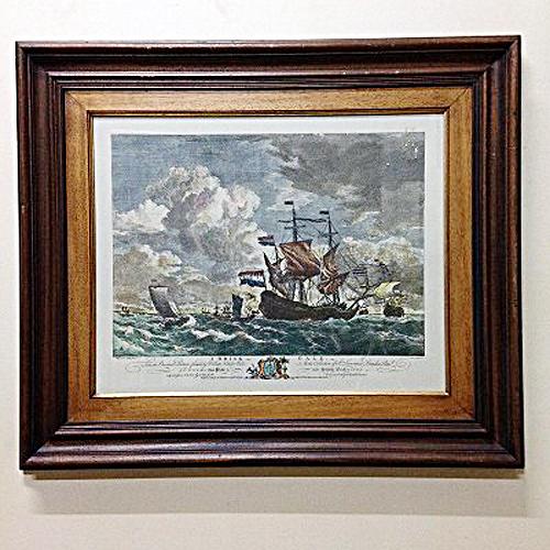 【中古】洋風絵画(額入り) 幅760×奥行45×高さ647 【送料無料】【業務用】