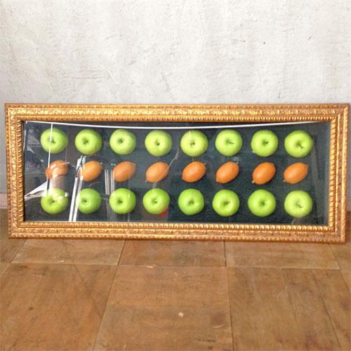 【中古】壁飾り「リンゴとレモン」 幅1000×奥行70×高さ400 【送料無料】【業務用】