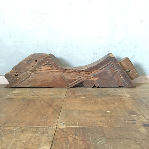 【中古】彫刻のある梁B 幅600×奥行90×高さ160 【送料無料】【業務用】