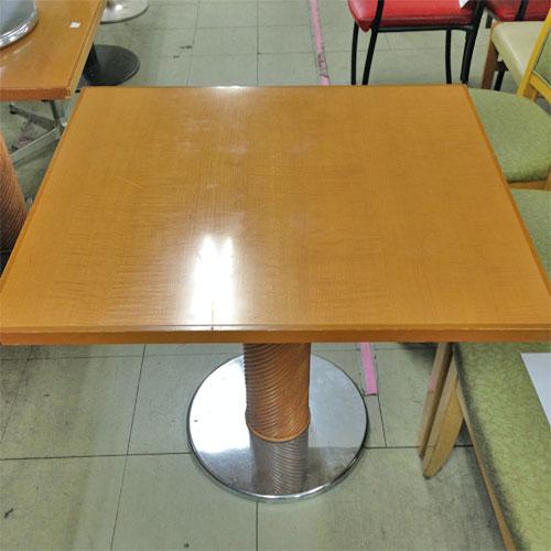 【中古】テーブル ライトブラウン 幅800×奥行700×高さ710 【送料別途見積】【業務用】