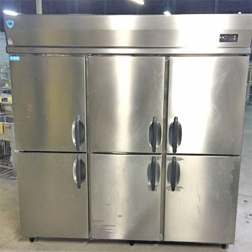 【中古】縦型冷凍冷蔵庫 1凍5蔵 大和冷機 673S1-L 幅1800×奥行800×高さ1800 【送料別途見積】【業務用】