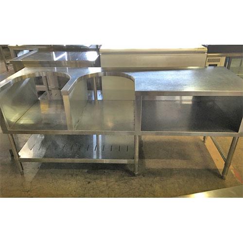 【中古】炊飯台 2個置き 幅1800×奥行600×高さ800 【送料無料】【業務用】